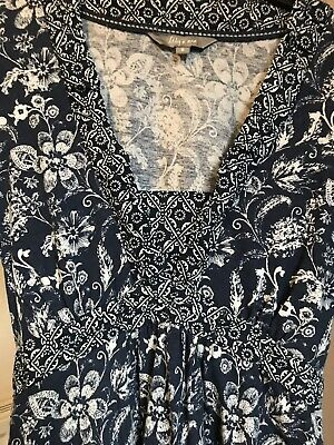 lily and me Size 8 Cotton Floral Dress Boho, Tiewaist,