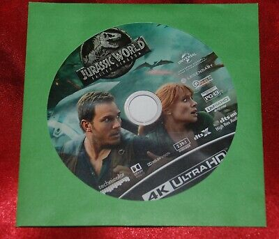 JURASSIC WORLD FALLEN KINGDOM Official US 4k Ultra HD Disc - Chris Pratt