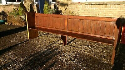 Antique church pew bench Victorian pine vintage rustic shabby chic panel built