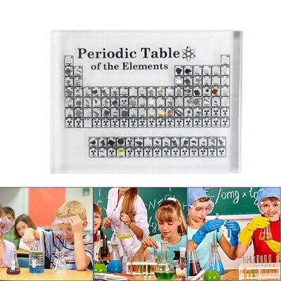 Acrylic Periodic Table Display of Elements Chemical Elements Teaching Table Tool