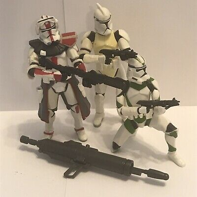 Star Wars Clone Wars Clone Trooper Lot of 3 Action Figures by Hasbro