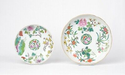 Two Chinese porcelain fencai plates - Late Qing