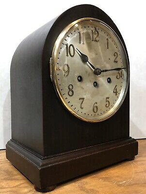German Junghans Beehive Tombstone Westminster Chime Mantel Bracket Table Clock