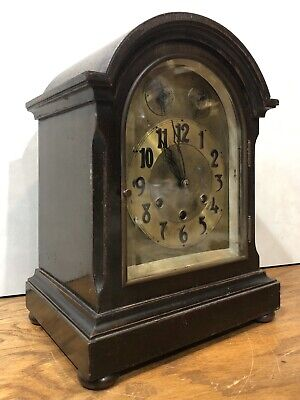German Gustav Becker Westminster Chime Bracket Mantel Clock Black Forest