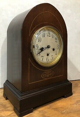 German Junghans Westminster Chime Mantel Bracket Table Shelf Clock