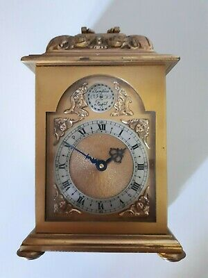 Swiss Brass Carriage / Mantel Wind up Clock - 8 Day - Approx 1960s