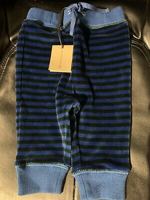 Burberry Children Navy Striped Trousers Size 3 Months