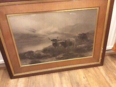 very large print in oak frame and border,peter graham,dated 1873.