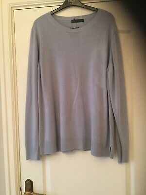 New Marks And Spencer Pale Blue Long Sleeve Jumper. Size 24. Bnwt.