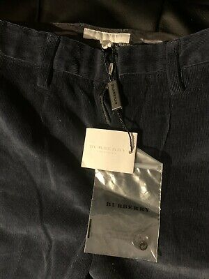 Burberry Boys Blue Cord Trousers Age 6-7