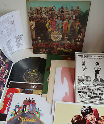 TRUE 1st Press~UK MONO Beatles Sgt Peppers Lonely Hearts Club Band~wRUN-OUT TRK