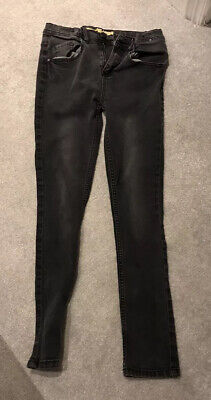 Lovely Boys Faded Black Denim Co Skinny Jeans From Primark Age 12-13 Years 158cm