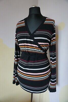 Womens Polarn O.Pyret Po.P blouse top XL 18 20 casual sexy maternity striped hot