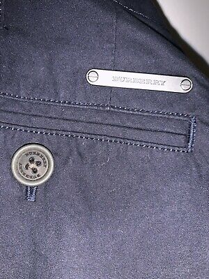 Burberry Boys Blue Cord Trousers Age 7/8