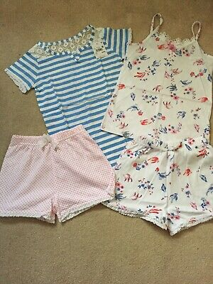 Next Girls Summer Shorts Pyjamas Bundle Size 5 Years New!