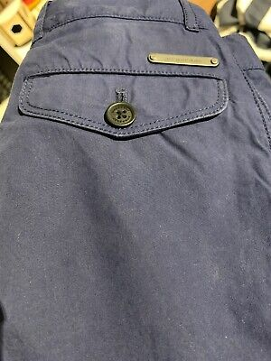 Burberry Boys Blue Cord Trousers Age 3/4