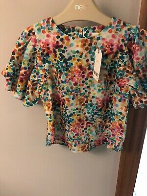 Brand New With Tags Next Girls Top Age 2-3 Lovely Print