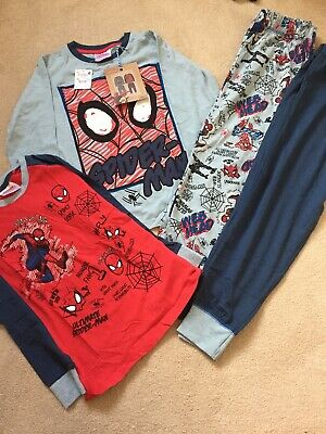 Next Boys Spiderman Pyjamas Bundle Size 6-7 Years New!