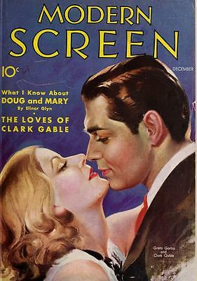 MODERN SCREEN, 12 issues, December 1931 to November 1932, in PDF FORMAT on CD