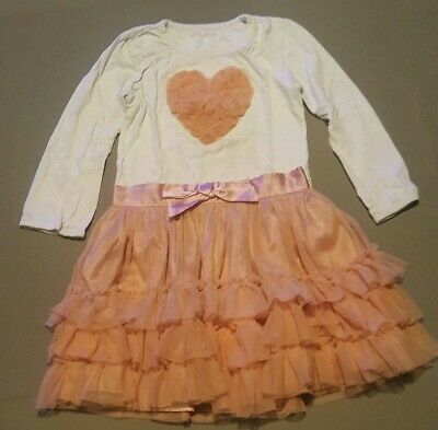 Girls Dusky Pink, 2-Piece Tulle/ Tutu Skirt & Top by Nutmeg. Ages 4-5 Years