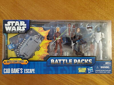 Star Wars Hasbro The Clone Wars Battle Packs Cad Bane's Escape Action Figures
