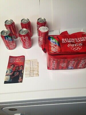 Coca Cola Beijing CHINA  2008 Olympic Games COLLECTOR SERIES CANS +T-Shirt