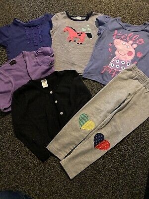 Girls Clothes Bundle Age 2-3 Years Mostly Carters Peppa Pig