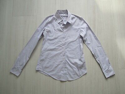 Uniqlo Girls White and Lilac Stripe Shirt size XS (age 12-13)