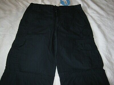 RRP€20 M&S INDIGO BOYS NAVY BLUE TROUSERS CARGO PANTS AGE 11 brand new with tags