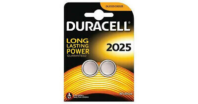 *Long lasting* Duracell CR2025 batteries Lithium Coin Cell DL2025 3V Pack of 2