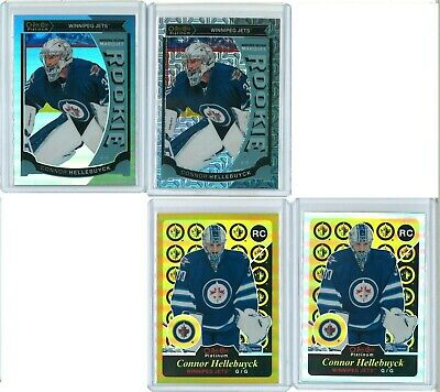 15/16 O-Pee-Chee OPC Platinum Connor Hellebuyck RC LOT (6 Cards) Purple /25 Gold