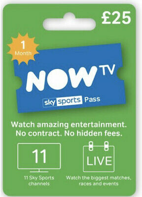 Now Tv Sky Sports Pass X 1 Month Rrp £25