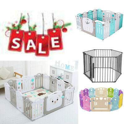 Baby Playpen Kids 16 Panel Safety Play Center Yard Home Indoor Pen Fence Outdoor