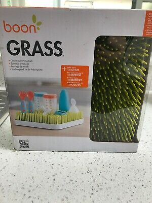 Boon B373 Portable Grass Countertop Drying Rack - Green