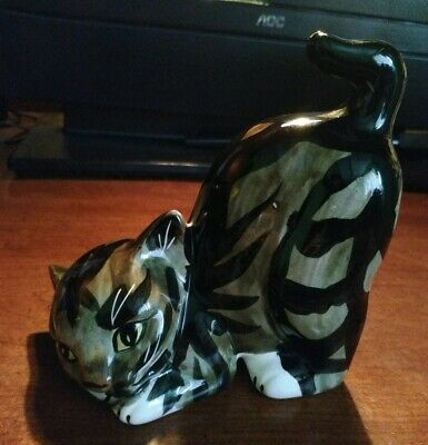 Kitty Cat Single Bookend / Doorstop Weighted Ceramic Porcelain