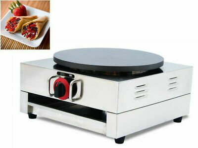 "16""Commercial Electric Crepe Maker Bake Pancake Machine Hotplate Non Stick Food"