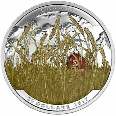 CANADA 20 Dollars 2017 Silver Proof 'Landscape Illusion - Pronghorn'