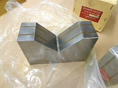 "Mitutoyo Large Precision Magnetic V-Block Set ~Series 986 ~ 5"" Capacity ~ NICE!"