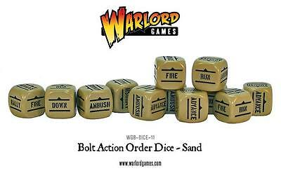 Warlord Games Bolt Action - ORDER DICE PACK - SAND- WGB-DICE-11