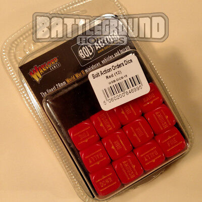 Warlord Games Bolt Action - ORDER DICE PACK - RED- WGB-DICE-15