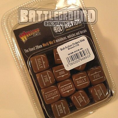 Warlord Games Bolt Action - ORDER DICE PACK - BROWN- WGB-DICE-09