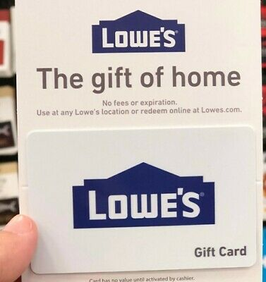 Lowe's $45 Gift Card Lowes Physical giftcard home repair