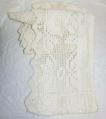 WONDERFUL ANTIQUE CROCHET LACE-HAND-MADE. 190cm