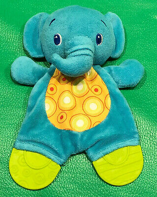 """Bright Starts Elephant Teether Baby Crinkle Rattle Soft Lovey Infant Toy 9"""""""