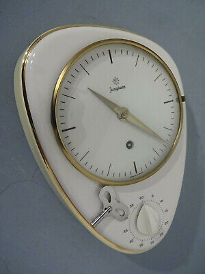 Max Bill Junghans Wall Clock with Egg Timer, 1950s