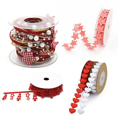 DIY Craft Gift Wrapping Star Chain Ribbon Christmas Tree Party Supplies