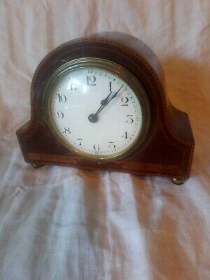 Vintage French Mantle Clock For Spares Or Repair