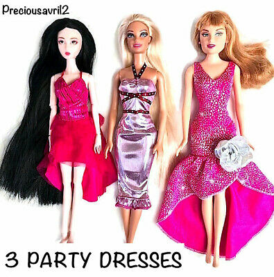 New barbie doll clothes outfit clothing sets set of 3 outfit evening party