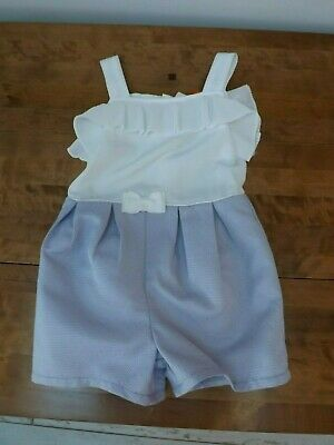 Nwt Ted By Ted Baker Girls Age 4-5 Frill Playsuit