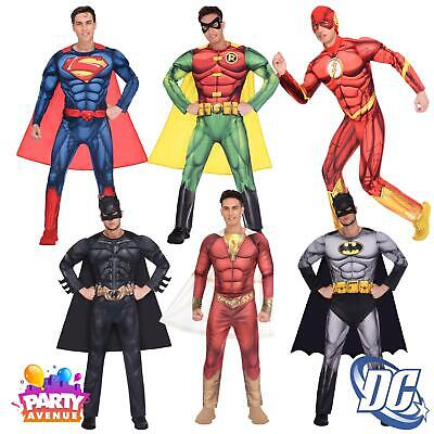 Mens Classic Deluxe Fancy Dress Super Hero Costume DC Comic Book Day Adults